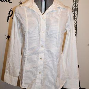 George Tuxedo Style Blouse Large 12/14